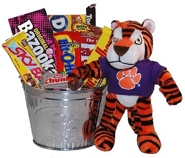 Clemson University Snack Bucket Gift Basket