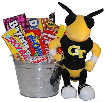 Georgia Tech Snack Bucket Gift Basket