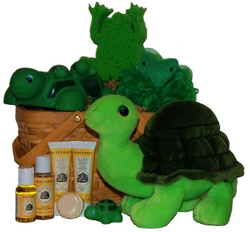 Lilly Pond Buddies Baby Spa Gift Basket