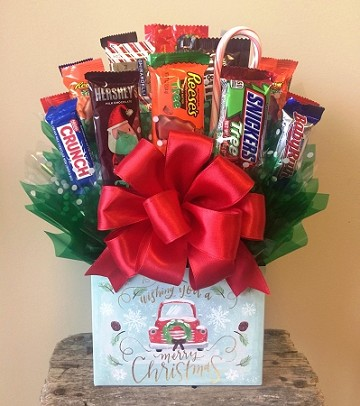 Merry Christmas Box Bouquet