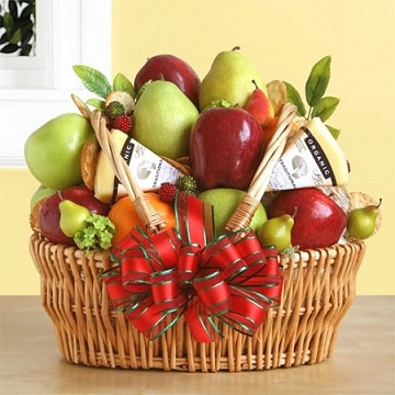 Organic Fresh Fruit for Two Gift Basket