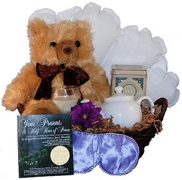 Peaceful Moments & Aromatherapy Bear Relaxation Gift  Basket