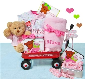 Personalized It's A Girl Wagon