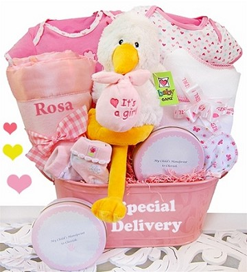 A Special Delivery Gift Basket-Girl